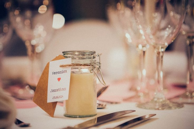 Easy DIY Wedding Favor Candles