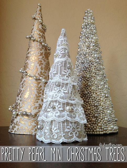 These pearl Christmas trees are STUNNING and so easy to make - perfect gift idea too!