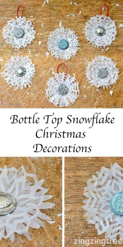 These snowflakes will look GORGEOUS hanging from the Christmas tree!