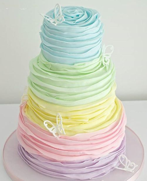 Ruffles Birthday Cake for Girls