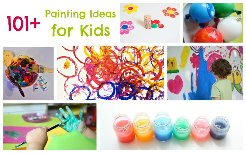 Paint-A-Thon of 101 Painting Ideas for Kids