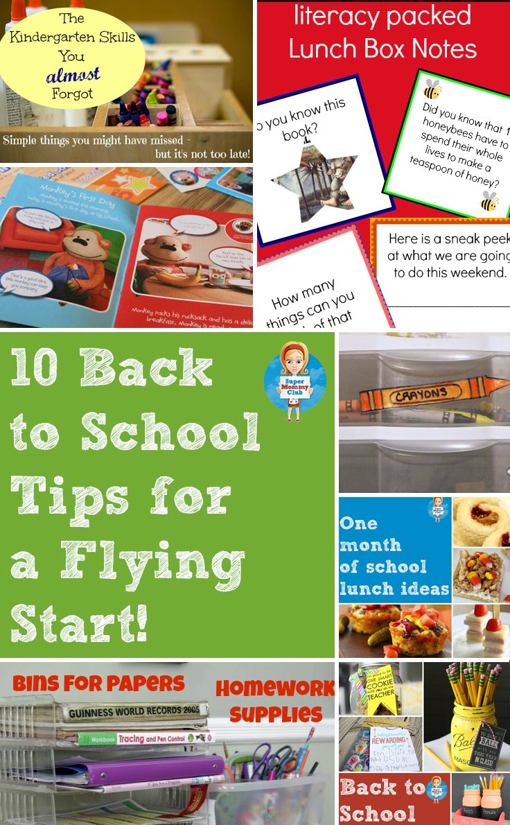10 back to school tips to get the school year off to a flying start!