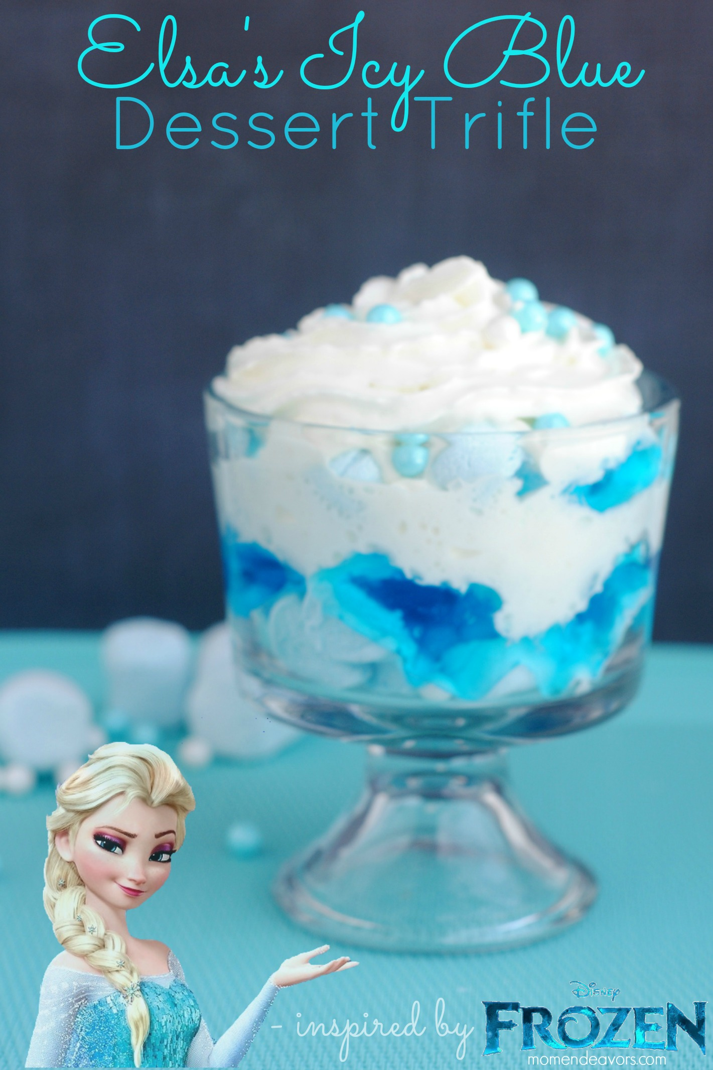 Disney FROZEN Fun Food: Elsa's Icy Blue Dessert Trifle