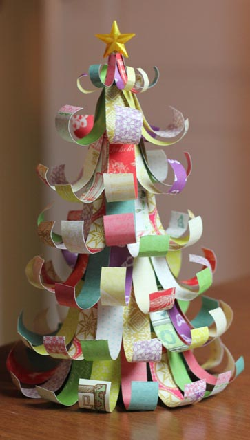 What a WONDERFUL way to use up some of those scrapbook paper scraps!