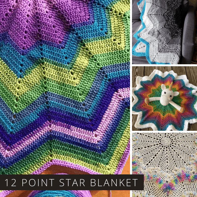 Loving this free 12 point star crochet blanket! Who know knew you could design so many blankets from just one pattern!