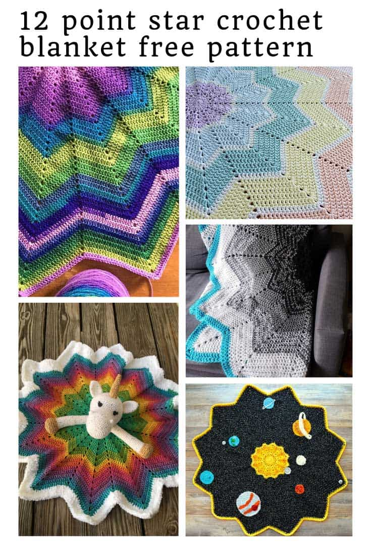 I am totally in love with this 12 point star crochet blanket!