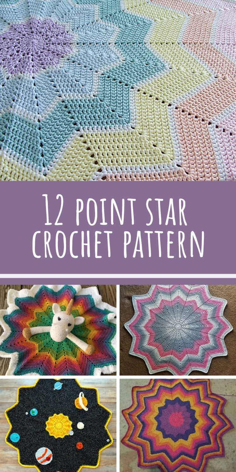 So many different blankets from the same 12 point star crochet blanket pattern!