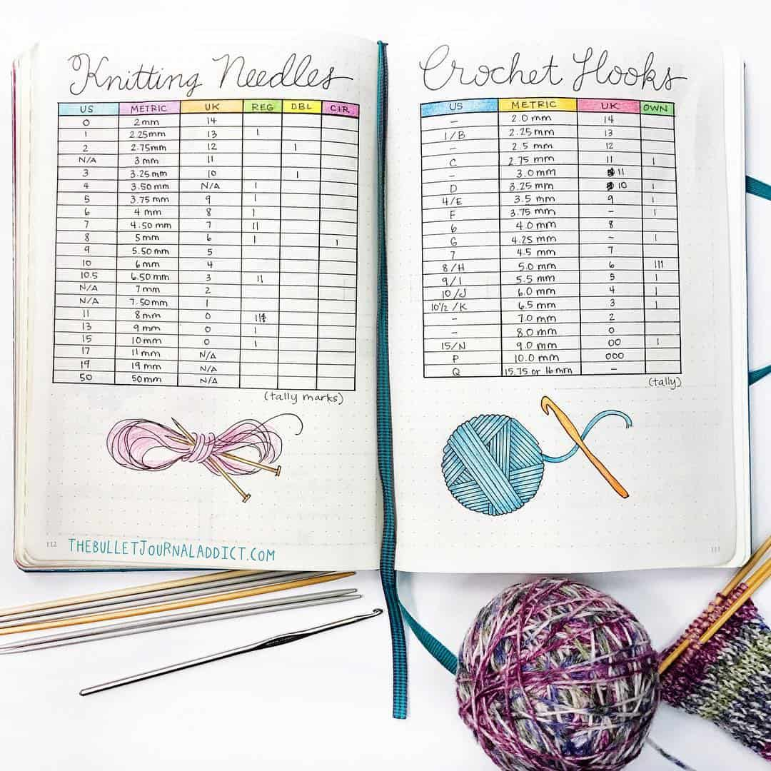 Keep track of your ever-growing collection of knitting needles and crochet hooks