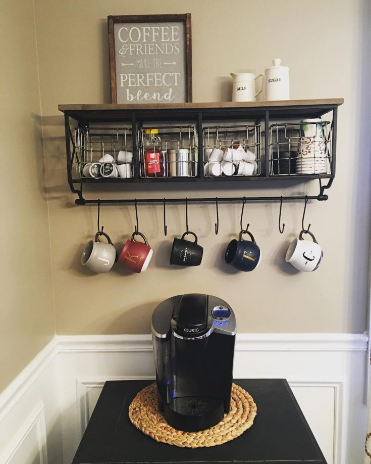 Wire baskets are perfect for storing coffee pods