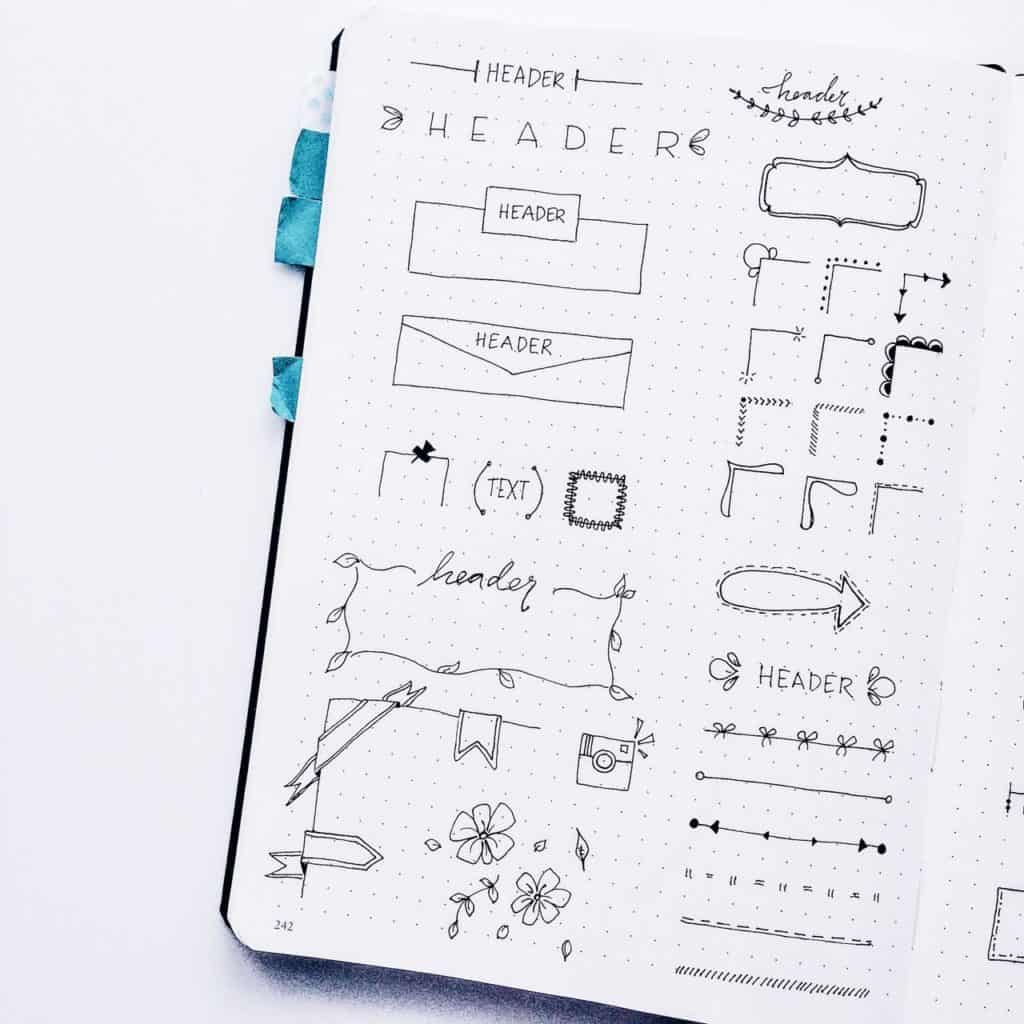 Bullet Journal Banners you can draw