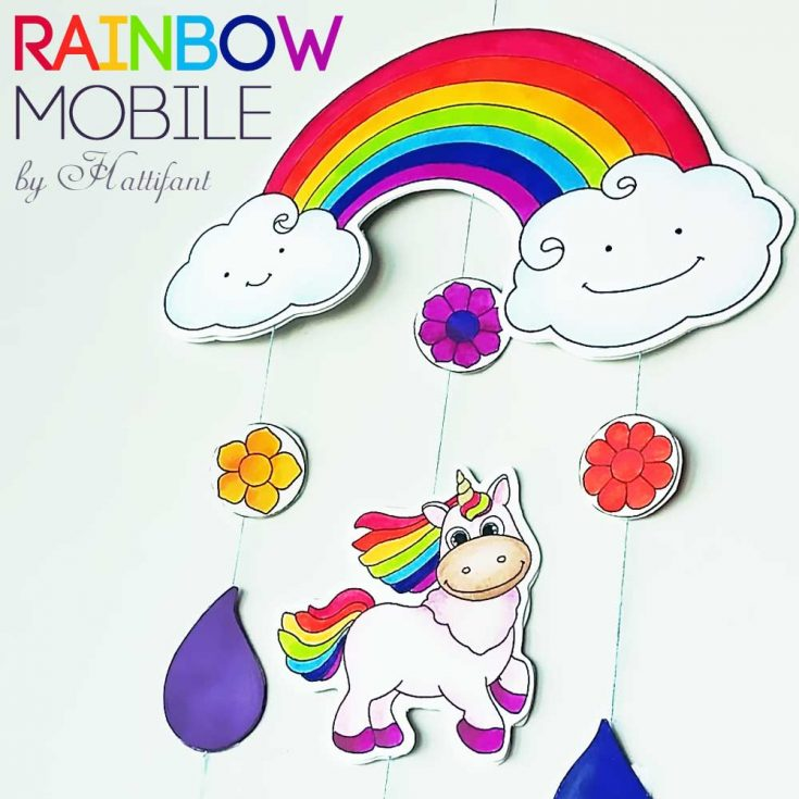 Lets make a Mobile: Rainbows and Unicorns