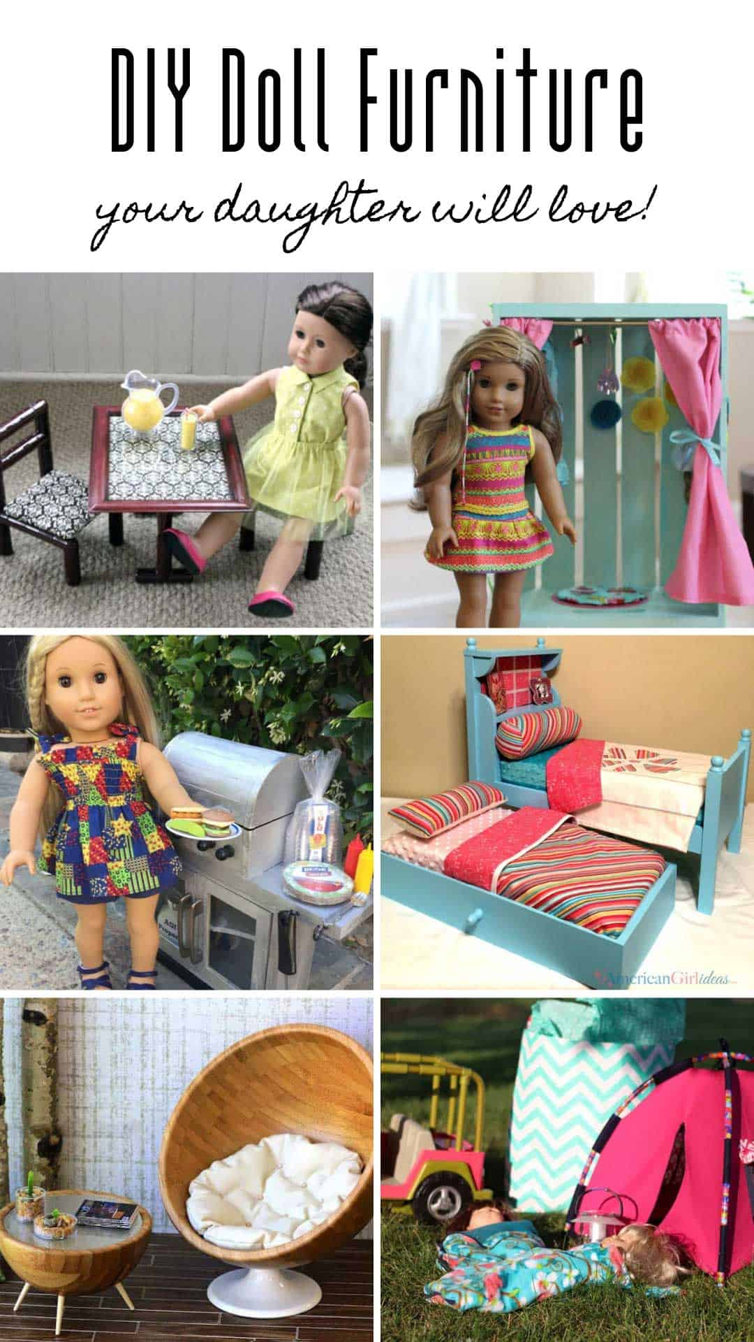 Incredible 30 Diy American Girl Furniture Projects Thatll Save You A Download Free Architecture Designs Ferenbritishbridgeorg