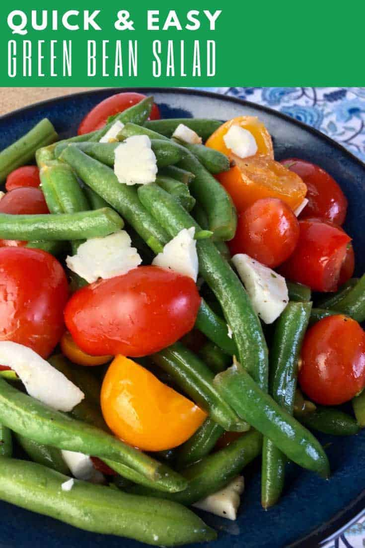 This versatile Green Bean Salad with Tomatoes & Feta combines garden fresh herbs and veggies with the delicious salty flavour of Feta cheese.