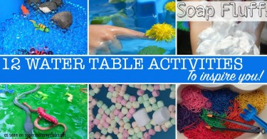 So many ideas for water table activities - that work outside and indoors too!