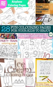 My kiddos are going to LOVE these kid's colouring pages - should keep them quiet for a while!