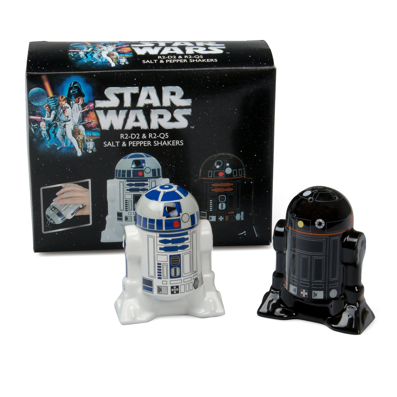 R2-D2 and R2-Q5 Star Wars Salt and Pepper Shakers