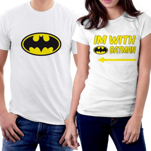 I'm with Batman Couple T-shirts