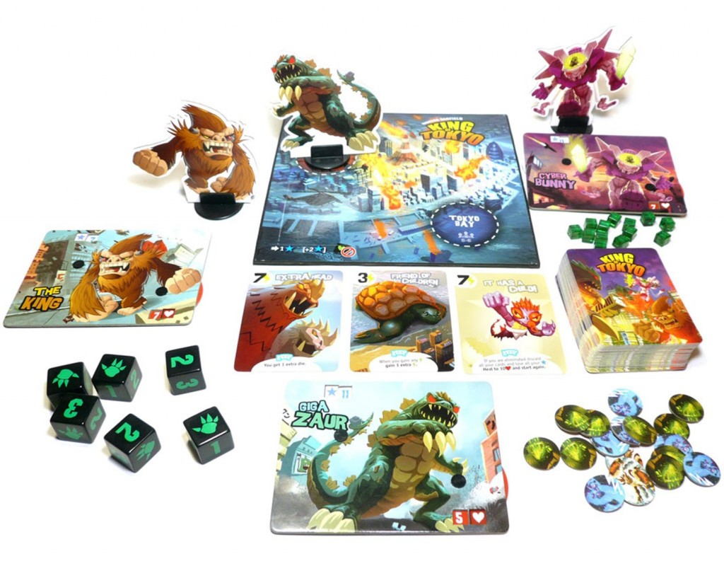 The aim of the game is to become a mutant monster or a gigantic robot and fight to the death as you try to become King of Tokyo.