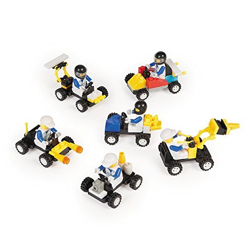 Turn your birthday party favors into a game with these building block vehicles!