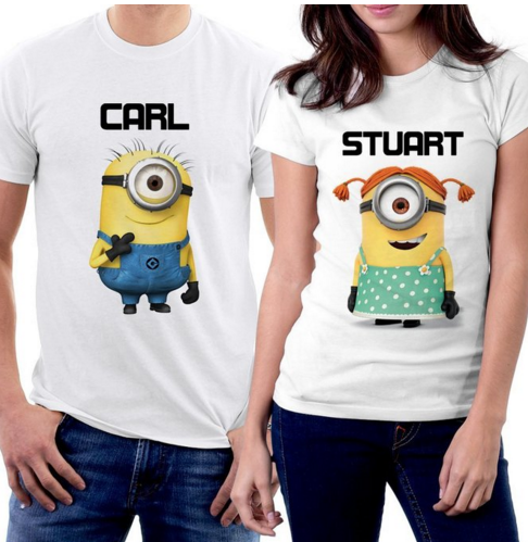 Minions Carl and Stuart Couple T-shirts