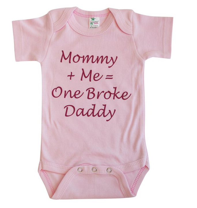One Broke Daddy Onesie