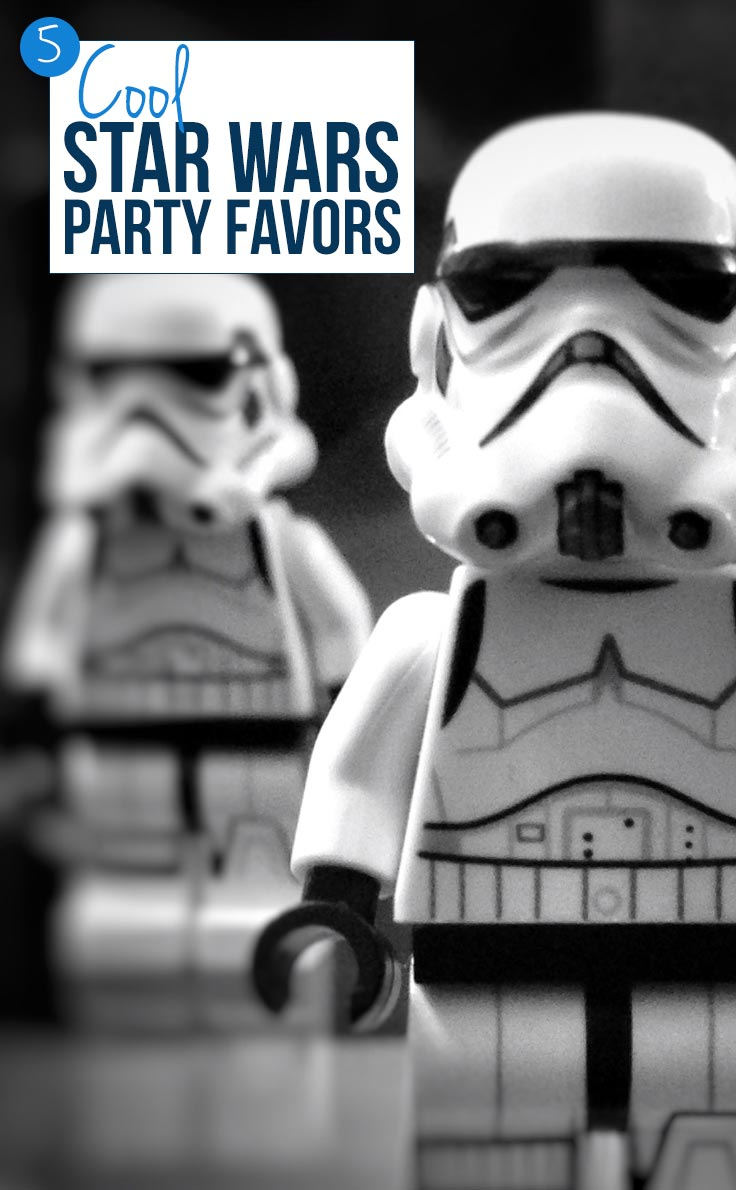 These Star Wars party favors are perfect for our goodie bags - and I love that the kids can have light sabers!
