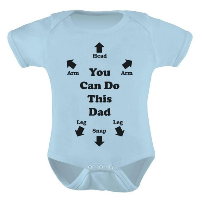 You Can Do This Dad Funny Baby Onesie.png