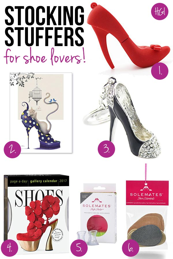 Make the shoe crazed girl in your life go head over heels with these super cute stocking stuffers for shoe lovers!