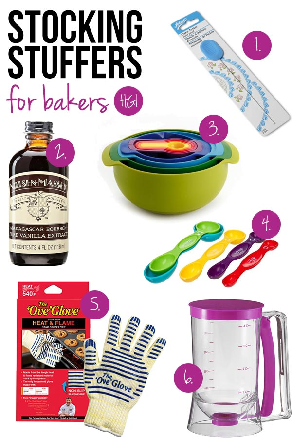 Surprise and delight the baker in your life with these thoughtful stocking stuffers for bakers!