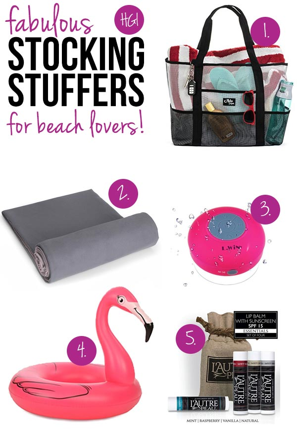 Surprise and delight the sun worshipper in your life with these thoughtful stocking stuffers for beach lovers!