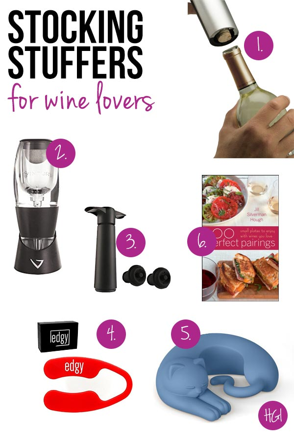 Surprise and delight the wine lover in your life with these thoughtful stocking stuffers for wine lovers!