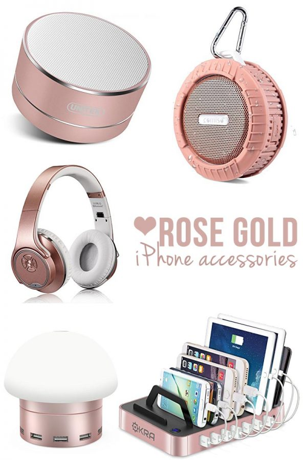 These rose pink iphone accessories are GORGEOUS! I need those headphones!