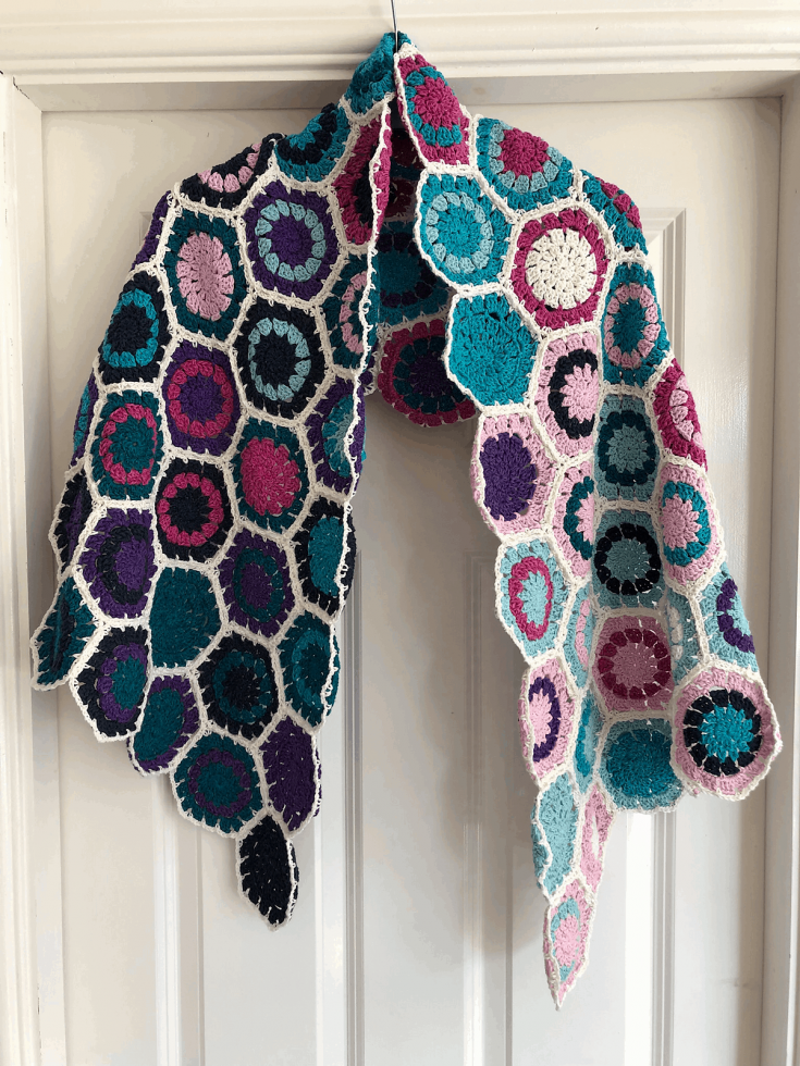 Use the Hexagons to Make a Shawl