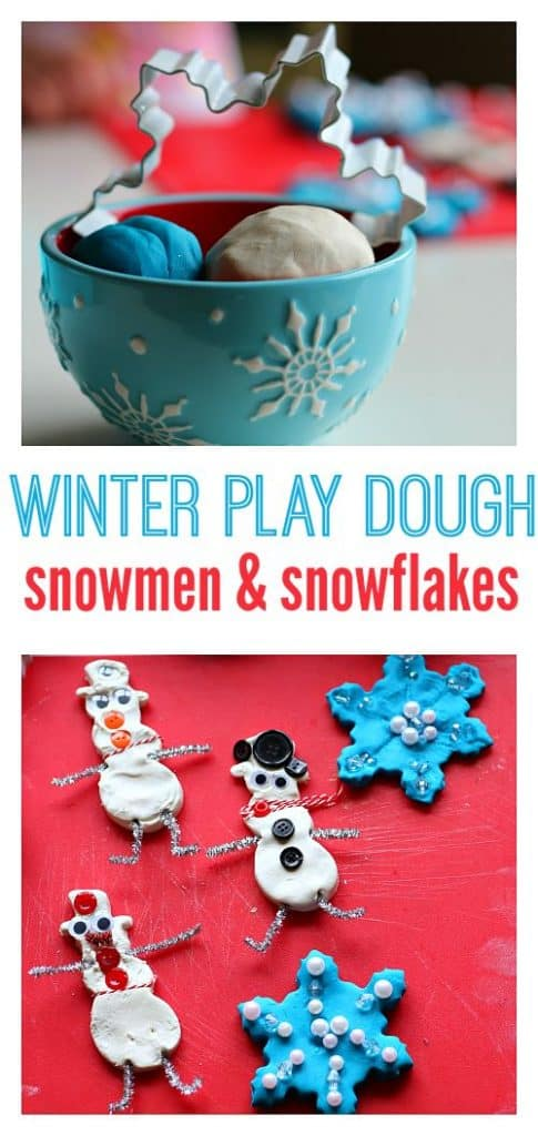 What a fun idea for Play Dough - making Christmas snowflakes!