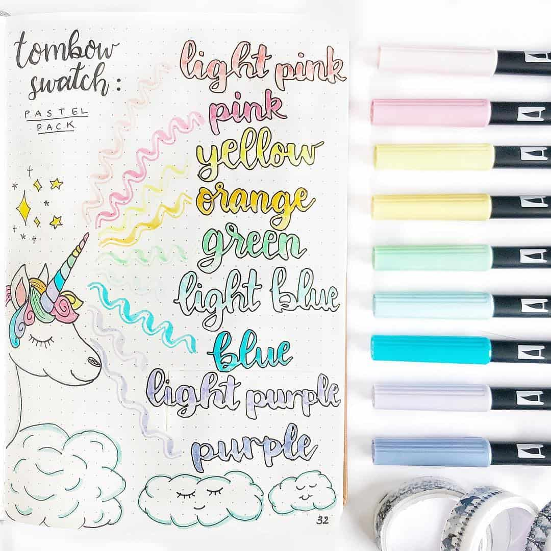 Unicorn Tombow Swatch