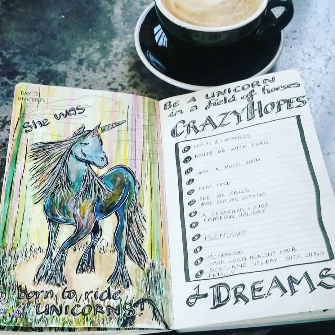 Bullet Journal Unicorn Spread
