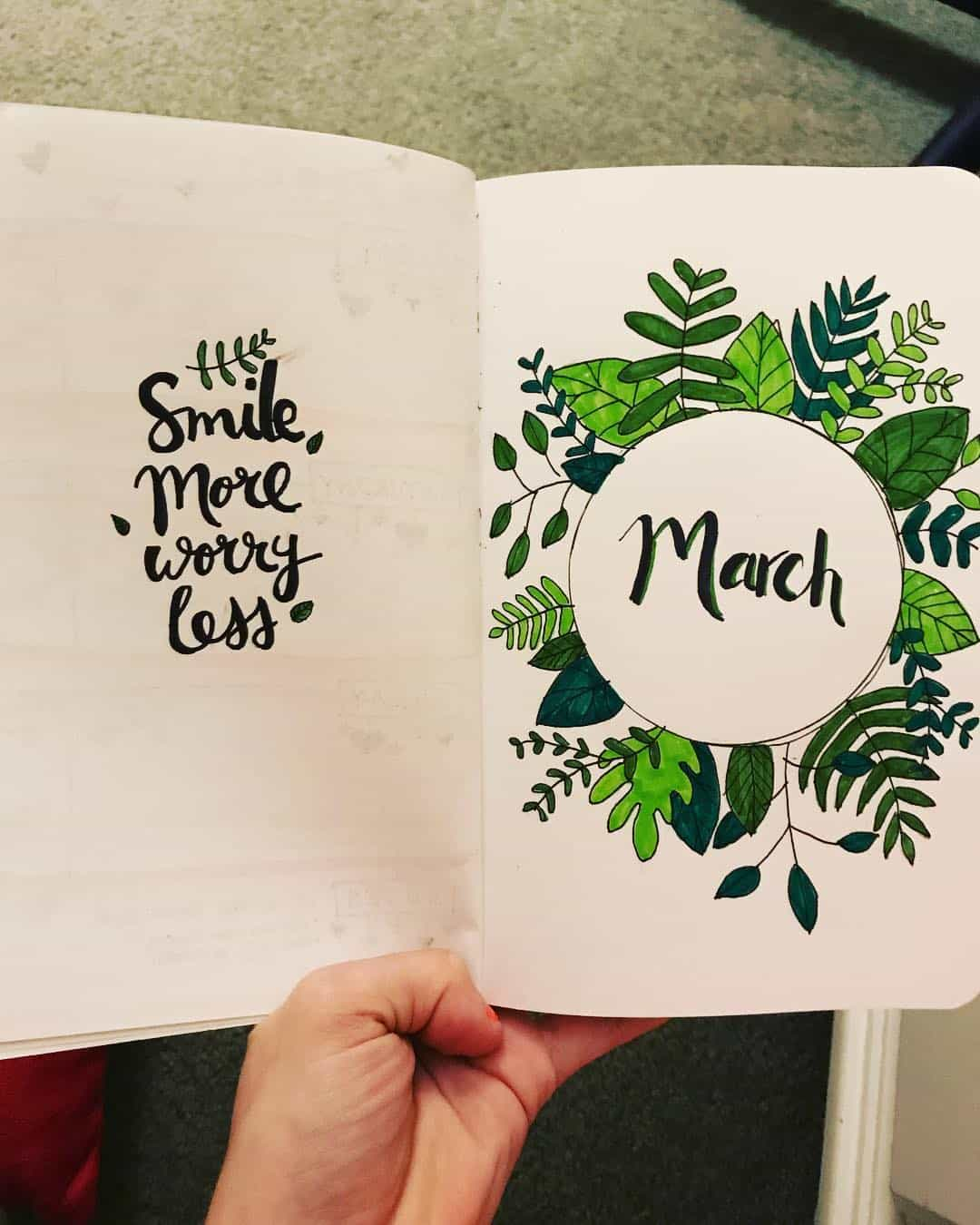 10 bullet journal march cover pages you ll want to steal