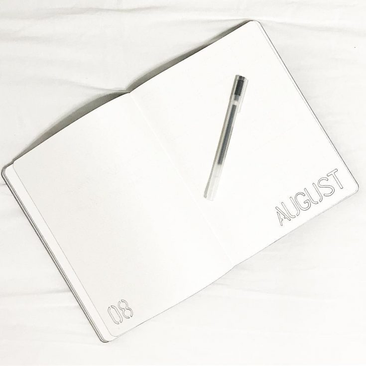 Minimalist August Cover Page