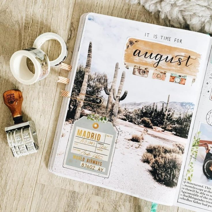 Travel Inspired August Cover Page