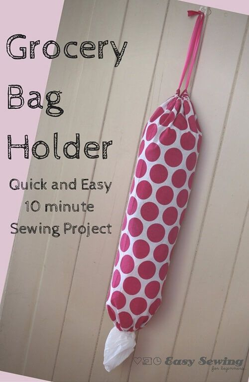Keep your grocery bags under control with this super EASY sewing project!