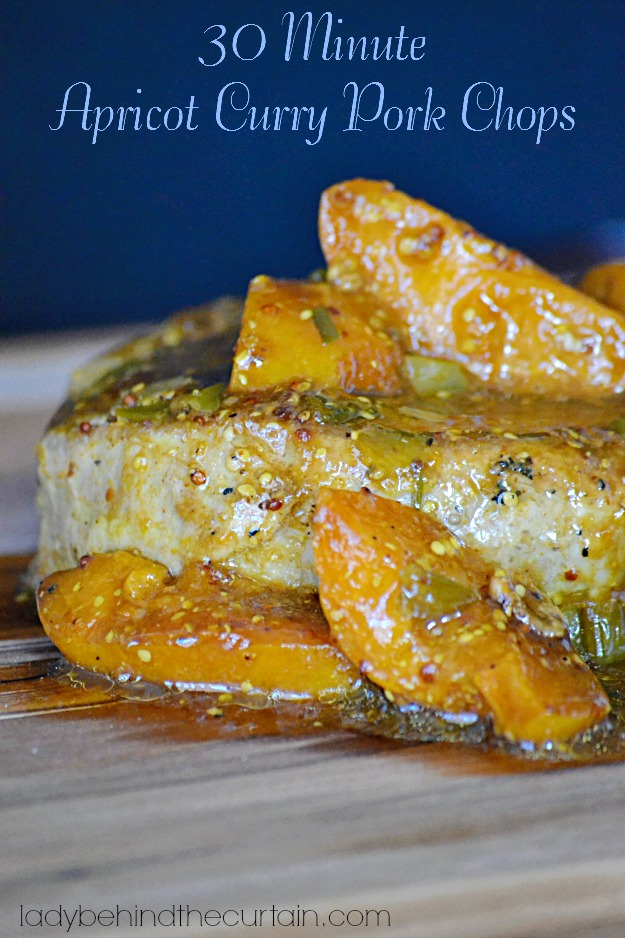 30 Minute Apricot Curry Pork Chops