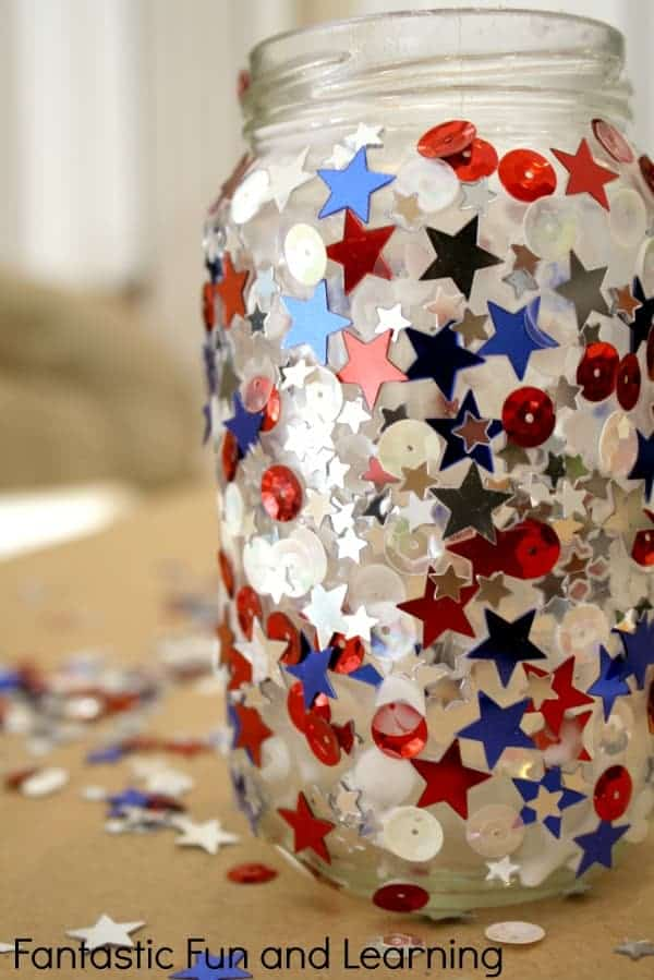 Easy Patriotic Jar Candle Craft