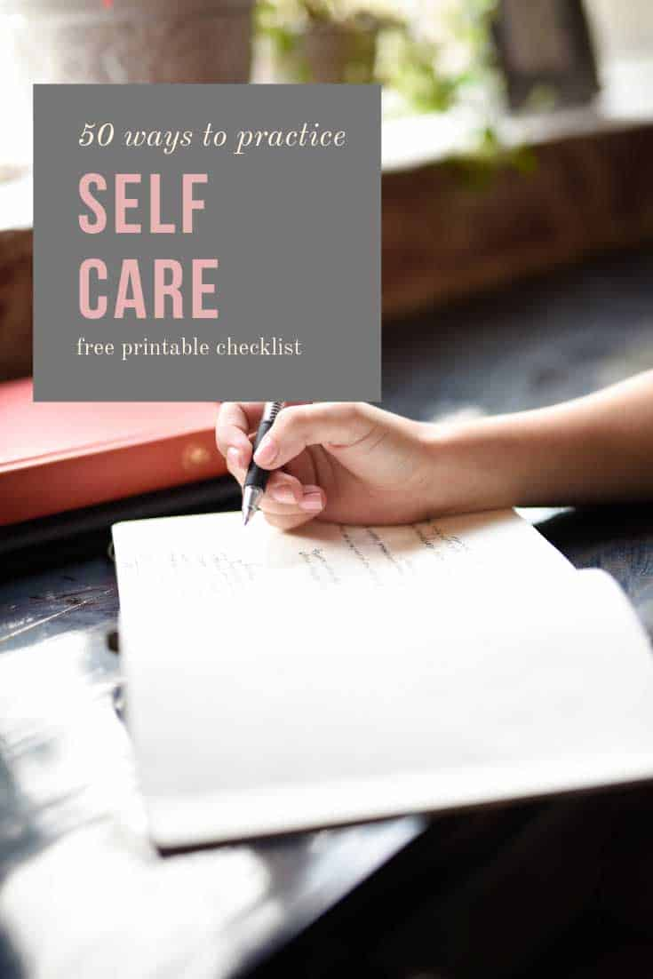 50 different ways you can reduce stress and introduce self care into your daily routine