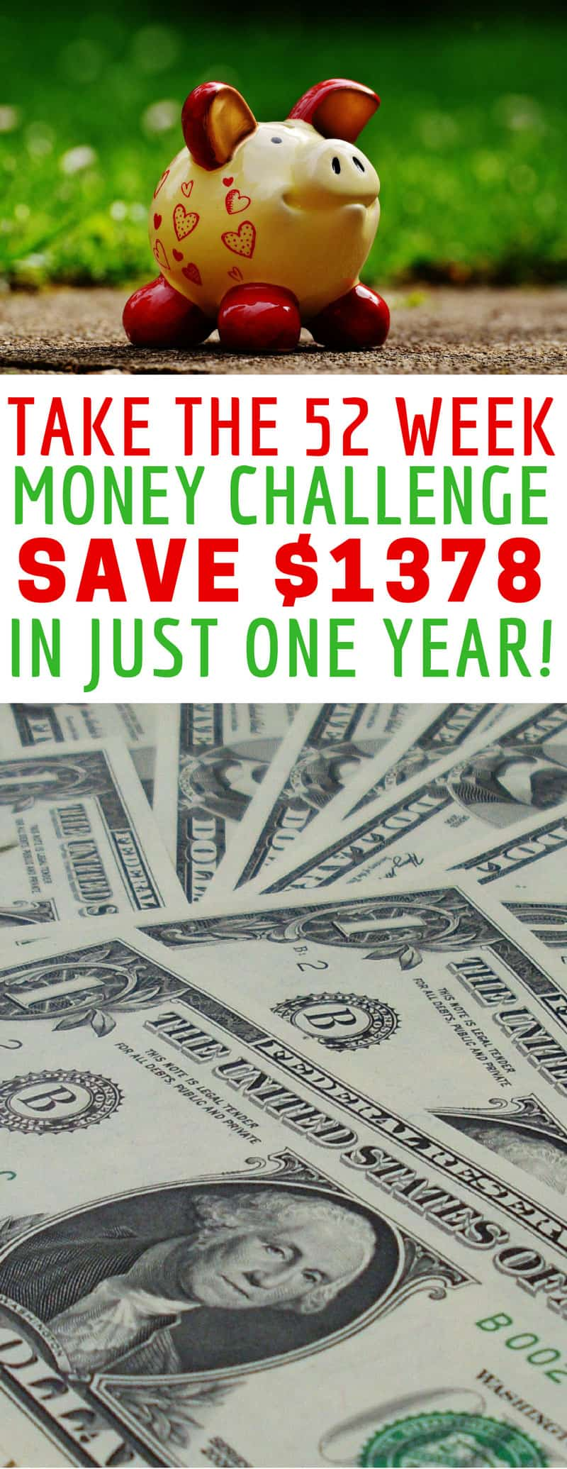 Who knew it was so easy to save $1378 in just one year! Love this 52 week money challenge! Thanks for sharing!