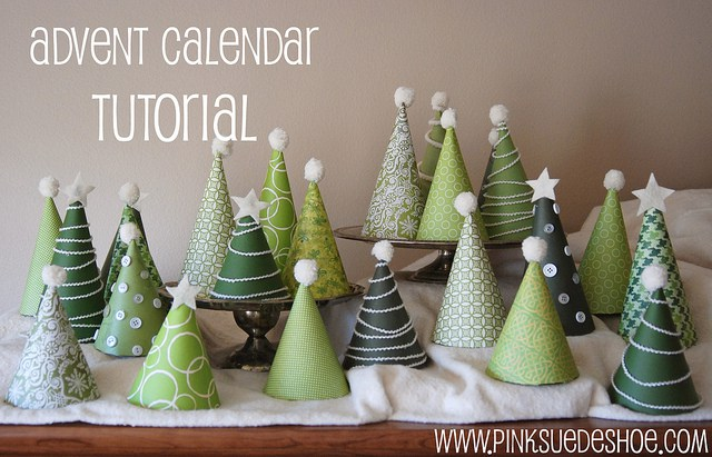 LOVE how this one is a completely different take on the Christmas tree advent calendar!