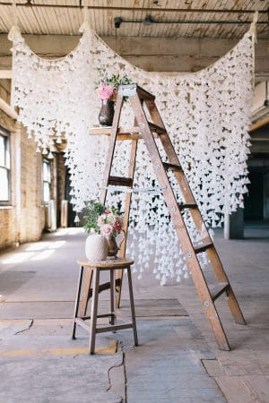 DIY Wax Paper Backdrop