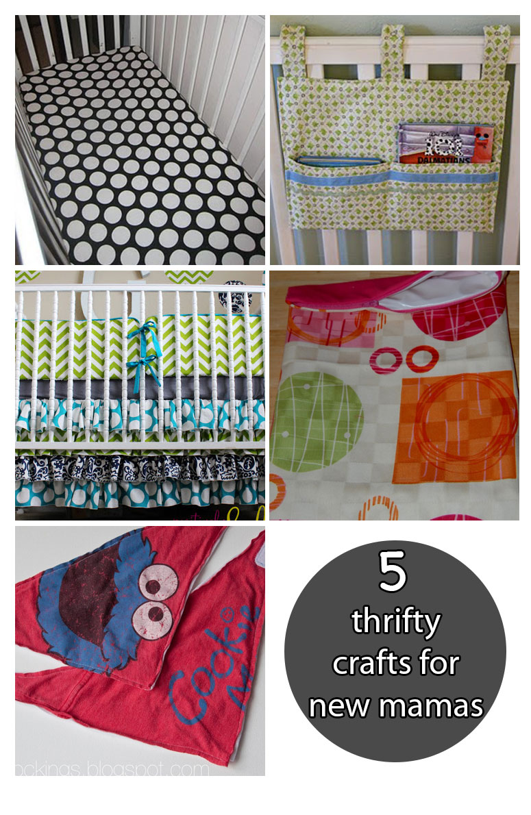 5 Thrifty Crafts for New Mamas - Pin it for later