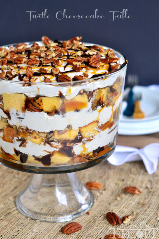 Turtle Cheesecake Trifle