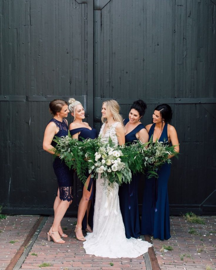 The bridesmaid dresses...