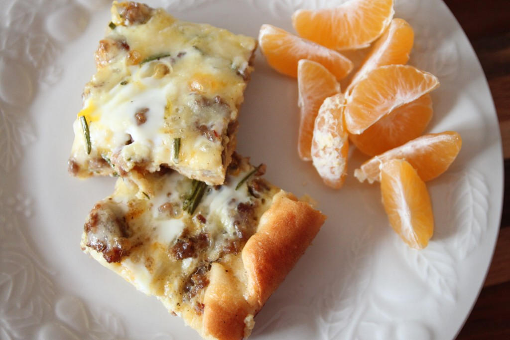 Breakfast Casserole - This recipe has a crescent roll crust, it looks so good I might have to have a test run before Christmas Day... like maybe Thanksgiving?
